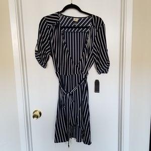 Wrapper Ladies Stripes Wrap Dress
